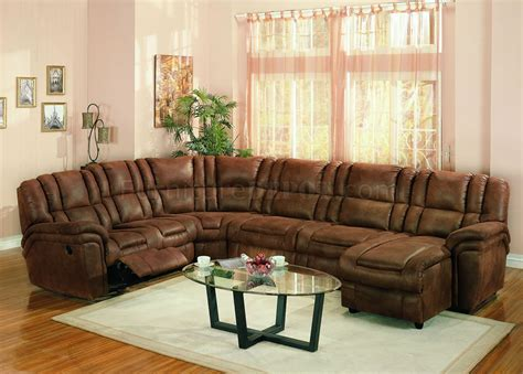 Microfiber Sectional Sofa by Brown Specially Treated Microfiber Sectional Sofa W Recliner