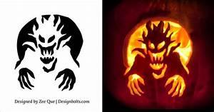 Pumpkin, Carving, Patterns, Free