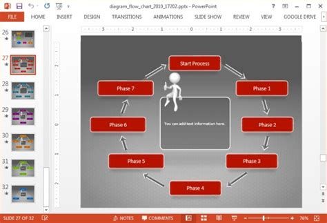 animated diagram flow chart powerpoint template