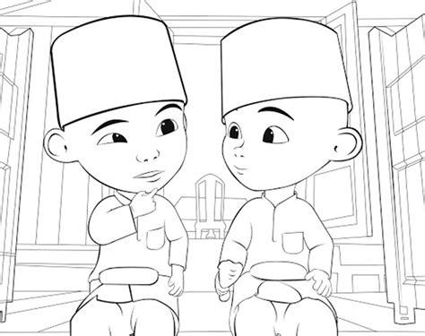 gambar gambar mewarnai upin ipin anak kartun di rebanas