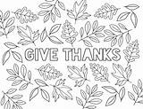 Coloring Give Thanks Thanksgiving Printable Activity Rad sketch template