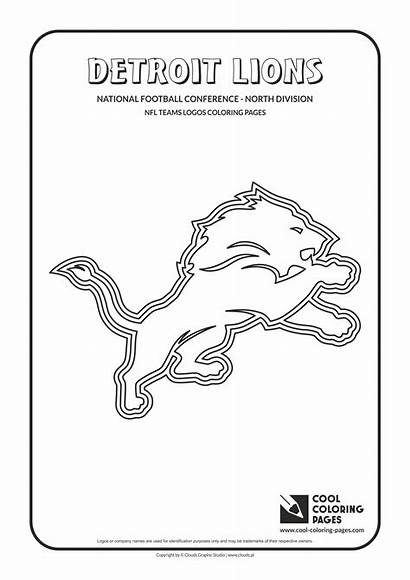 Coloring Nfl Pages Logos Lions Detroit Football