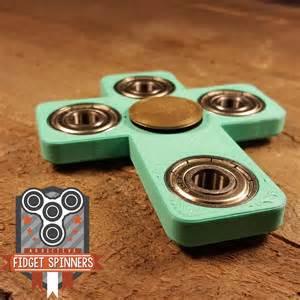 EDC Spinner Cross Fidget Toy With Caps (Center Bearing Type: Chrome Steel)