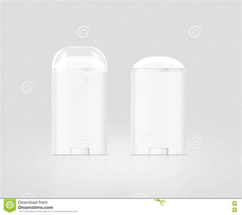 Two photorealistic renders of perfume deodorant spray bottle mockups with customizable background. Blank White Deodorant Stick Bottle Mockup Set, Isolated ...