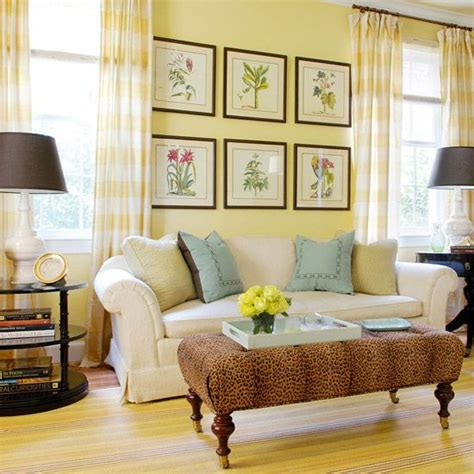 Blue Yellow And Beige Living Room by How To Decorate Your Living Room With Cheery Yellow