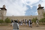 File:Afghan men take a tour of the King Hussein mosque in ...