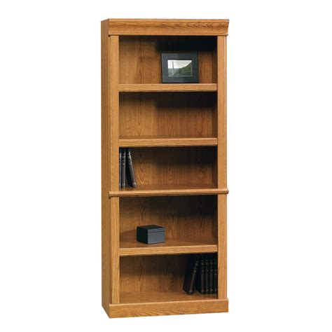 sauder bookcase with shop sauder orchard hills carolina oak 5 shelf bookcase at
