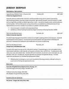 Rn Resumes Examples  Entry