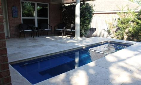 leisure palladium plunge fiberglass pool bluewater