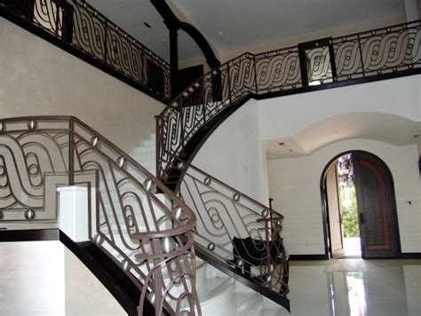 staircase railings designs wrought iron stair railings for stunning interior