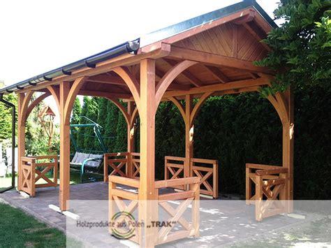 pavillon holz aus polen gro 223 e pavillon mit satteldach projekte 8 carports aus polen