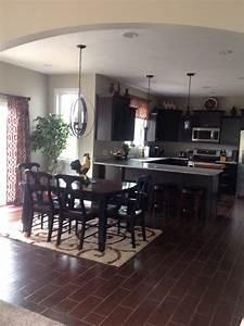 Black, Cabinets, Brown, U0026quot, Wood, U0026quot, Tile