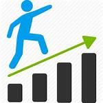 Icon Business Clipart Growth Plan Financial Feasibility