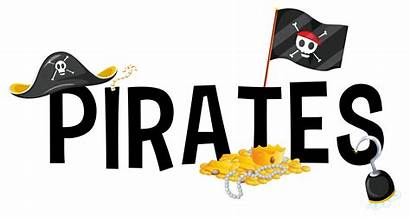 Word Font Pirates Pirate Vector Background Clipart
