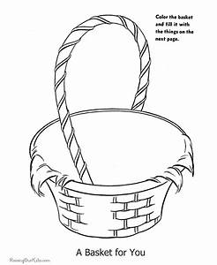 Pin Easter Basket Coloring Page on Pinterest