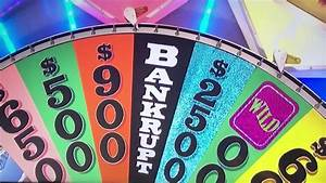 U2018wheel Of Fortune U2019 - Four Bankrupts In A Row