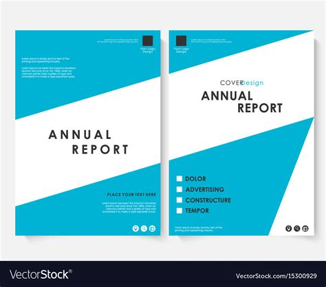 Template For Annual Report by Annual Report Cover Design Template Royalty Free Vector