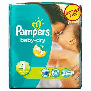 Pampers Baby Dry Nappies Maxi Monthly Pack - Size 4 (174 ...