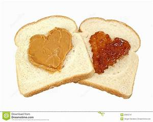 Peanut Butter And Jelly Love Royalty Free Stock ...