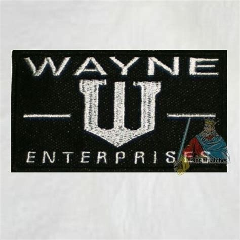 batman company bruce wayne enterprises logo embroidered