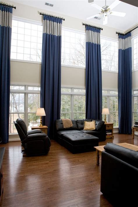 Astonishing Window Treatments For Large Windows In Living