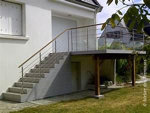 terrasse en hauteur beton 6 fabrication bois systembaseco With terrasse en bois en hauteur