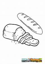 Toast Coloring Template sketch template
