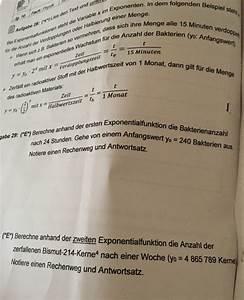 Gewinnschwelle Berechnen : exponentialfunktion exponentialfunktion berechnen bakterien und radioaktive bismut 214 kerne ~ Themetempest.com Abrechnung