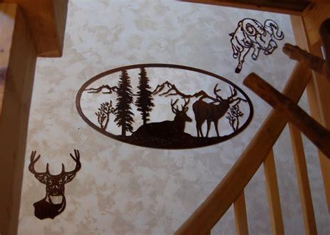 deco chambre montagne paysage montagne decoupe fer decoration murale