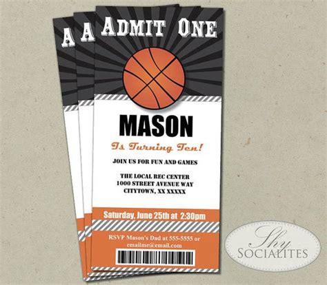 basketball ticket invitation admit  basketball