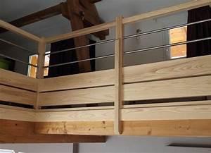 Balustrade En Bois : balustrade horizontale mb escaliers ~ Melissatoandfro.com Idées de Décoration