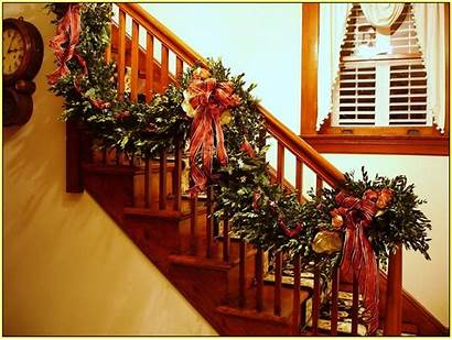 Garland Christmas Stairs Spirit Decoration Nine Welcome