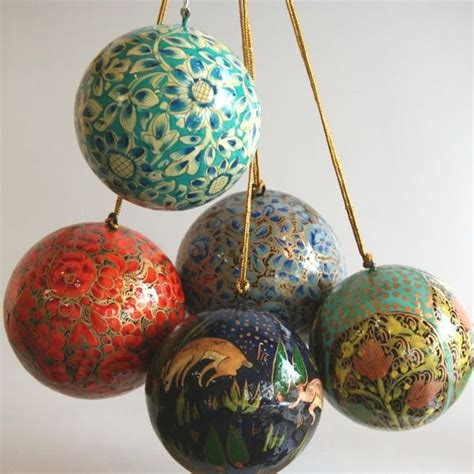 fair trade hand painted holiday ornaments made of paper