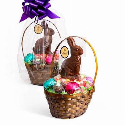 Basket Bow Easter Chocolate Milk Filled Eggs