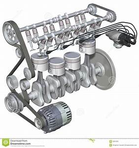 Petrol Engine Interior Stock Illustration  Illustration Of