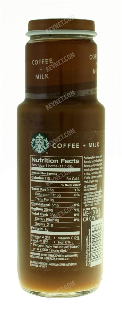 70 calories, 11 grams of sugar. Coffee and Milk | Starbucks Iced Coffee | BevNET.com ...