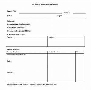lesson plan outline template 10 free free word pdf With simple lesson plan template doc