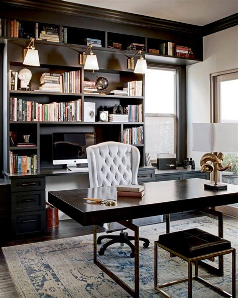 traditional home office  gray rug hgtv