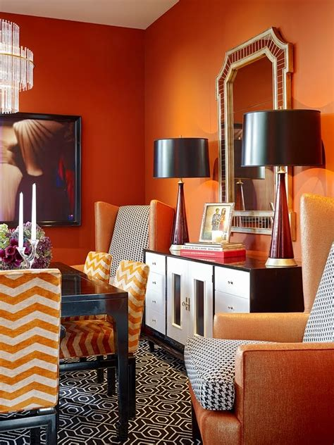 amazing orange interior designs