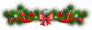 Christmas, And, Holiday, Pine, Garland, With, Red, Bow, Window, Or, Wall, Decor, Decal