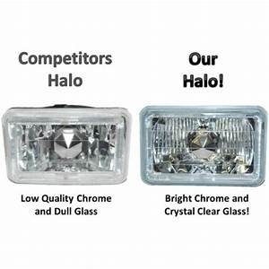 Single 4x6 Green Halo Angel Eye Halogen H4 Bulb Headlight