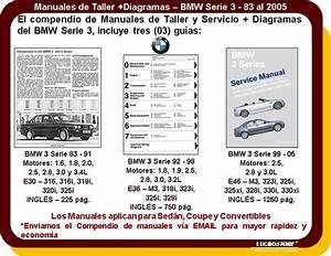 Manual De Taller Bmw Serie 3 Reparacion Diagramas 83-05