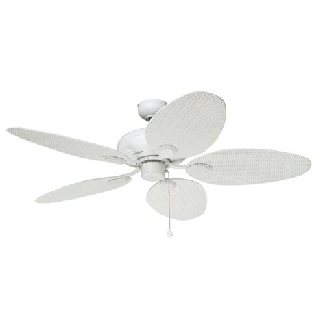 harbor breeze outdoor ceiling fan shop harbor breeze tilghman 52 in matte white indoor