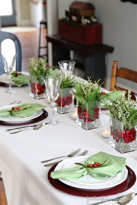 xmas table centerpieces ideas how to decorate a table for christmas easyday