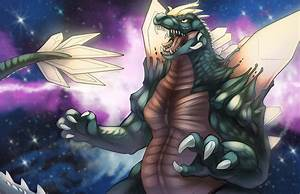 Sketch Dailies- Space Godzilla by Ifus on DeviantArt