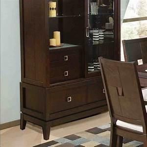 Espresso China Cabinet - Home Furniture Design
