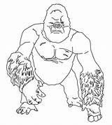 Gorilla Coloring Printable Sheets Animals Momjunction Intended Cartoon Forest Others Animal sketch template