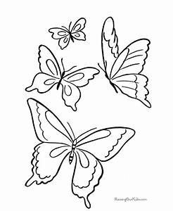 Butterfly Color Pages For Kids - AZ Coloring Pages