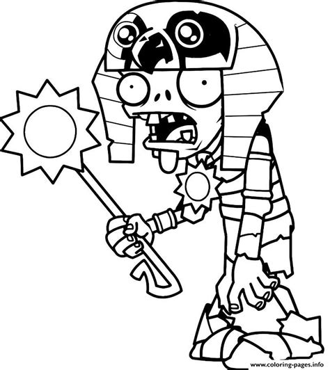 egypt plants  zombies coloring pages printable
