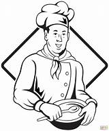 Coloring Chef Pages Italian Drawing Electrician Professions Chefs Lightning Bolt Printable Pizza Getdrawings Bowl Soup Popular sketch template